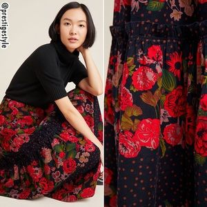 NWT ANTHROPOLOGIE Danette Tiered Corduroy Skirt
